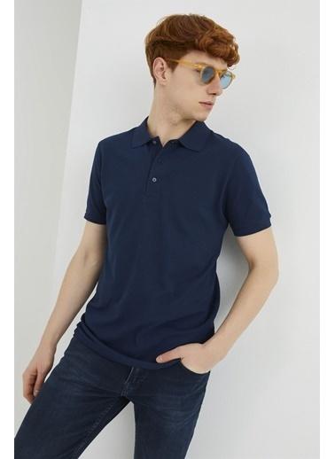 Z Giyim Pamuklu Düğmeli Polo Yaka T-shirt Lacivert